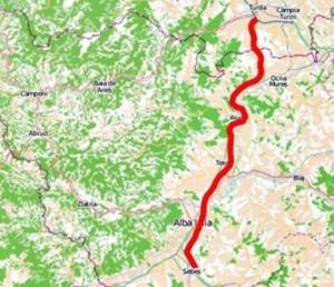 Autostrada Sebes - Turda - harta