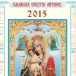 CALENDAR ORTODOX 2015. Când pică marile sărbători religioase | zlatnainfo.ro