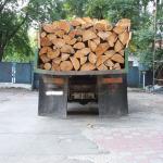 Material lemnos fără acte de proveniență confiscat de polițiștii din Zlatna