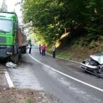 O femeie de 30 de ani a ajuns la spital în urma unui accident rutier petrecut pe DN 74, între Zlatna și Abrud