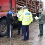 Bărbat de 42 de ani din Zlatna surprins de polițiștii din Alba Iulia la volanul unui camion cu care transporta ilegal material lemnos