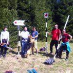 Membrii Trascău Corp Zlatna au reluat activitatea de remarcare şi întreţinere a traseelor turistice