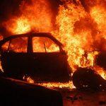 Intervenție a pompierilor militari din Alba Iulia la Presaca Ampoiului, pentru stingerea unui incendiu izbucnit la un autoturism